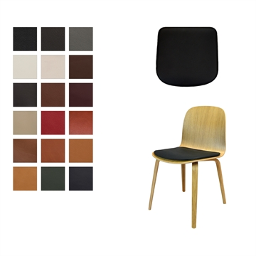 Lux Seat cushion in Luxury 2018 Leather for Muuto Viso chair
