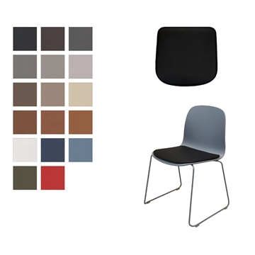 Lux Seat cushion in Basic Select Leather for Muuto Viso chair