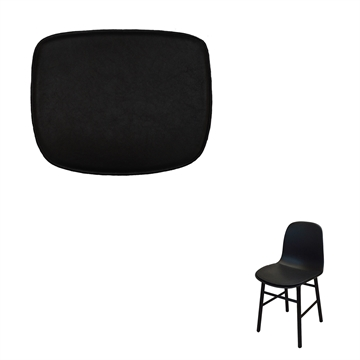 Non-reversible Luxury Seat cushion in Basic Select Leather for the Form chair