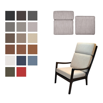 Cushion set for the Senator Chair in Basic Select Leather (High chair)