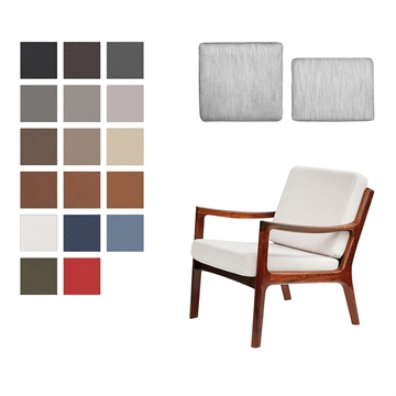 Cushion set for the Senator Chair in Basic Select Leather (low back)