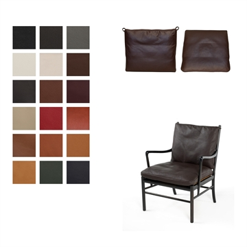 Cushion set in Luxury Leather for the  OW149 / PJ149 Colonial chair