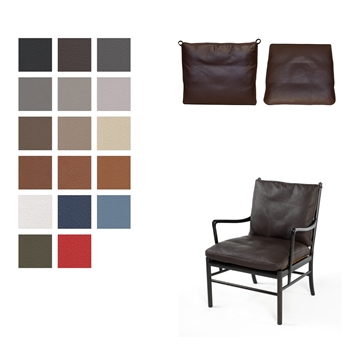 Cushion set for the  OW149 / PJ149 Colonial chair in Basic Select Leather.
