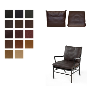 Cushion set for the  OW149 / PJ149 Colonial chair in Elmo Baltique Leather