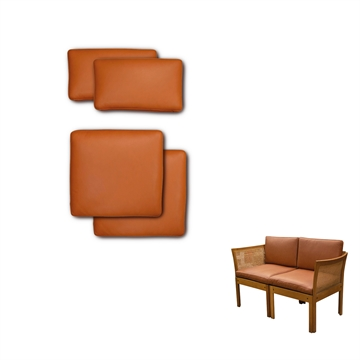 Cushion in Basic selecet Leather for plexus module 2 pers sofas