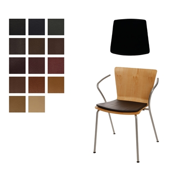 Lux seat cushion for Duo chair in Elmo Baltique Leather