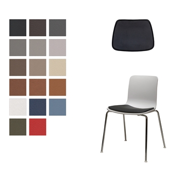 LUX seat cushion in Basis Select Leather for Vitra Hal Tube, Jasper Morrison