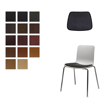 LUX seat cushion in Elmo Baltique Leather for Vitra Hal Tube, Jasper Morrison