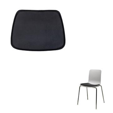 Non-reversible Luxury seat cushion in Basis Select Leather for the Vitra Hal Tube chair