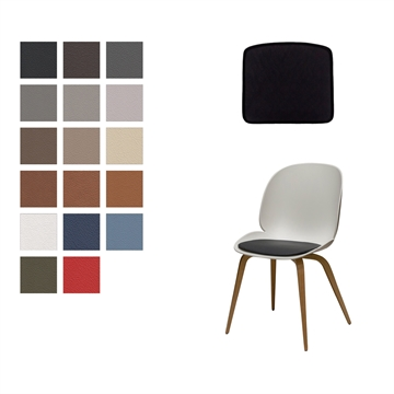 LUXseat cushion in Basic Select Leather for Vitra Sim chair by Jasper Morrison