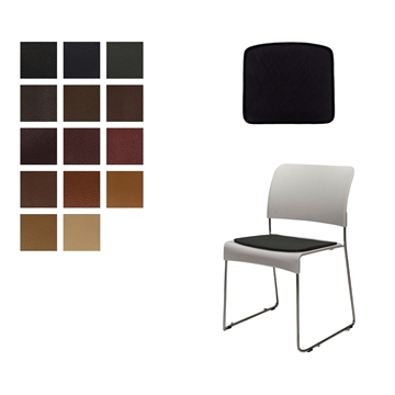 Lux seat cushion for Vitra Sim chair in Elmo Baltique Leather by Jasper Morrison