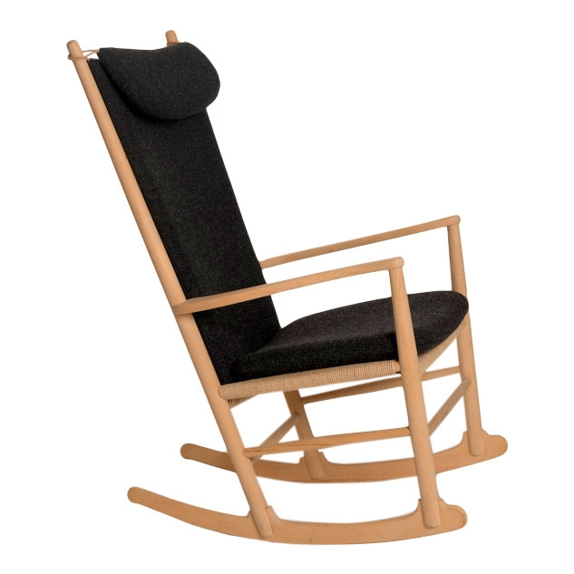 J16 Rocking Chair Cushion (seat, Back And Neck Pillow) In Basic Leather