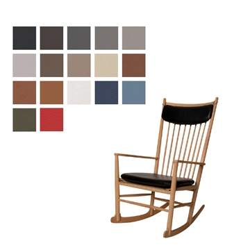 J16 rocking chair (seat and neck pillow) in Basic Select Leather