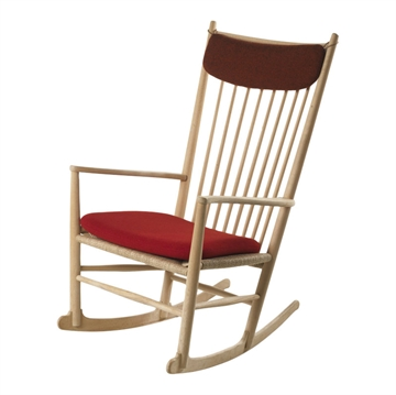 J16 rocking chair (seat and neck pillow) in Hallingdal Fabric