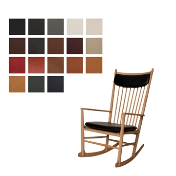 J16 rocking chair (seat and neck pillow) in Luxury Leather
