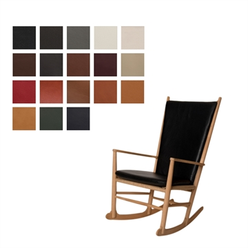Seat and back pillow in Luxury Leather J16 rocking chair cushion