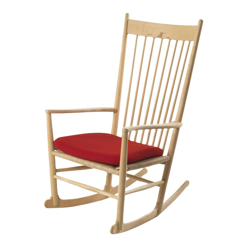 J16 Rocking Chair Seat Cushion In Hallingdal Fabric
