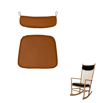 Seat and neck pillow in Basic Select Leather for theJ16 rocking chair